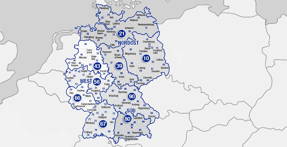 Deutschlandkarte AVK