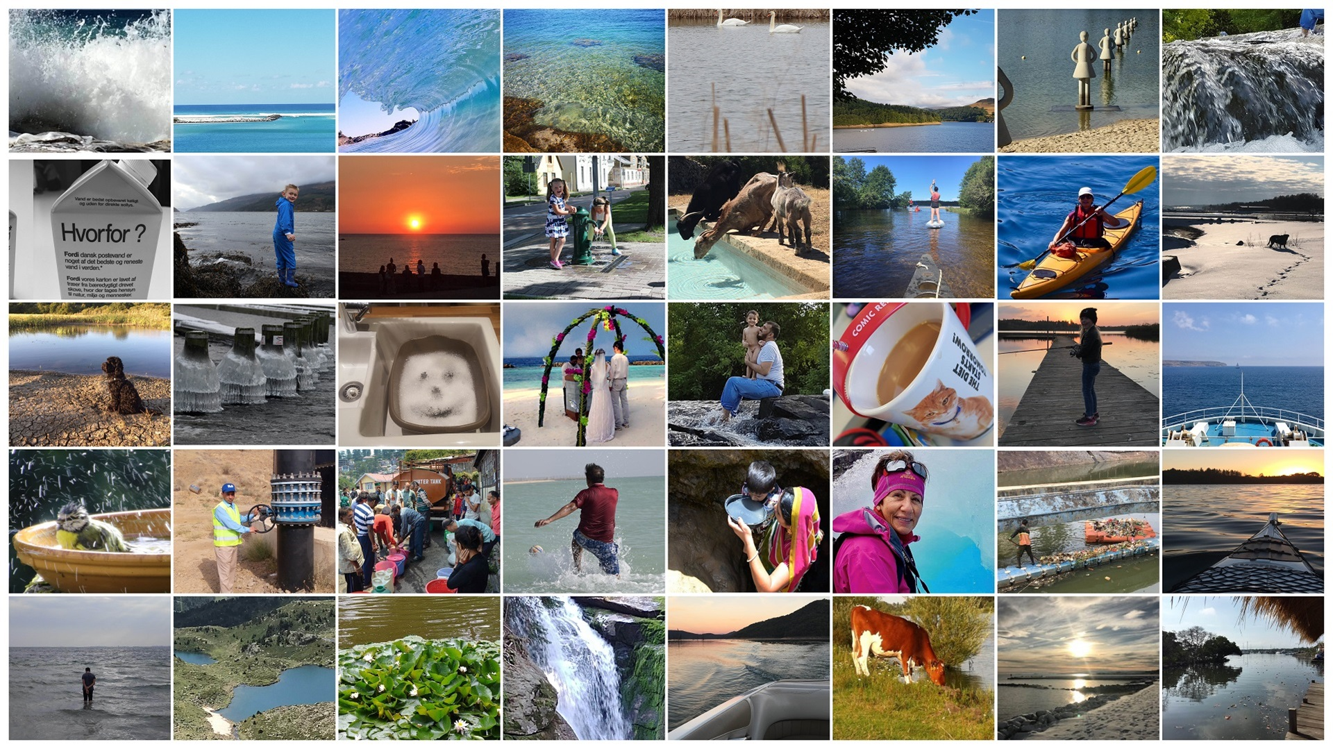 Weltwassertag 2021 Bilder Collage